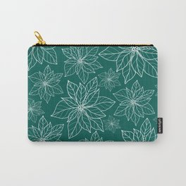 green poinsettia pattern Carry-All Pouch
