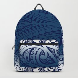 Monochromatic Polynesian Tribal design Backpack