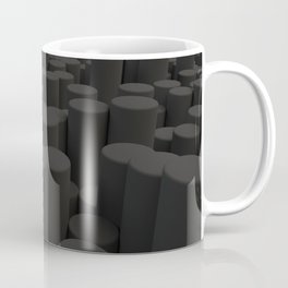 Pattern of black cylinders Coffee Mug