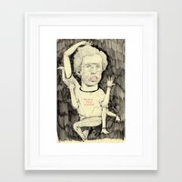 napoleon Framed Art Prints featuring Napoleon Dynamite by withapencilinhand