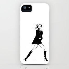 Karlie | Fashion Illustration iPhone Case