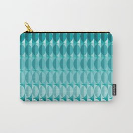 Leaves in the moonlight - a pattern in teal Carry-All Pouch