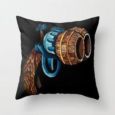 Black Double Barrell Throw Pillow