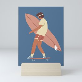 Surf poster Mini Art Print