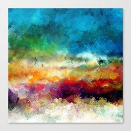 Landscape with flowers Canvas Print