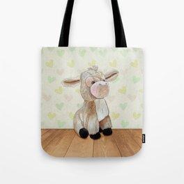 Cuddly Donkey Tote Bag