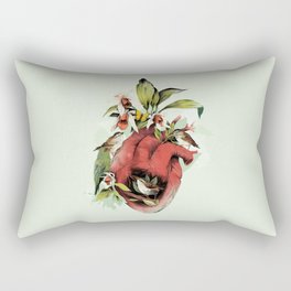 Heart Of Birds Rectangular Pillow