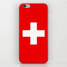 Flag of Switzerland - Authentic (High Quality Image) iPhone Skin
