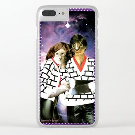 ME + U 4EVA handcut collage Clear iPhone Case