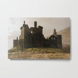 Golden hour at Kilchurn Castle Metal Print