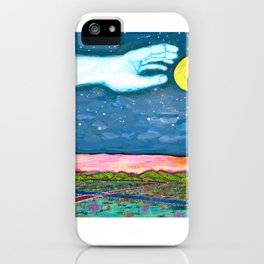 Moon Grab iPhone Case
