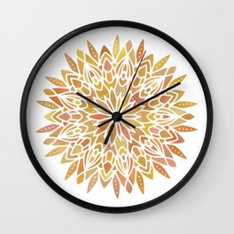 Mandala Desert Copper Gold Wall Clock