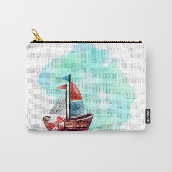 Ship in the Watercolor Carry-All Pouch