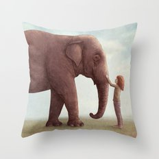 One Amazing Elephant - Back Cover Art Throw Pillow