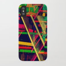 Industrial Abstract Green Slim Case iPhone X