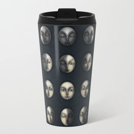 moon phases and textured darkness Travel Mug