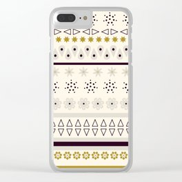 Bohemian rhapsody pattern - light cream Clear iPhone Case