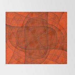 Fractal Eternal Rounded Cross in Red Throw Blanket