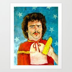 Get That Corn Out Of My Face! Art Print