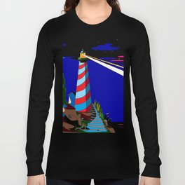 A Night at the Lighthouse with Search Light Active Long Sleeve T-shirt
