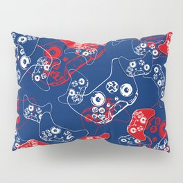 Video Game Red White & Blue 2 Pillow Sham