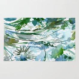 marelle: watercolor floral Rug