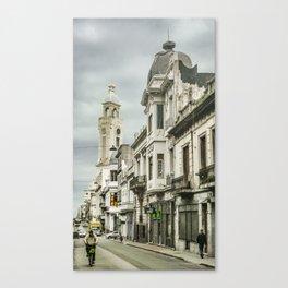 Montevideo Historic Center Cityscape Canvas Print