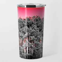 Gray Trees Candy Apple red Sky Travel Mug