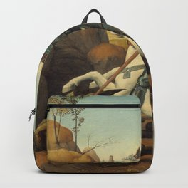 Saint George and the Dragon Oil Painting By Raphael Backpack