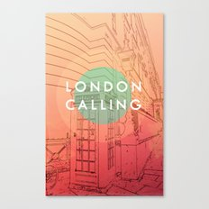 Songs and Cities: London Calling Canvas Print