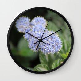 Blue Pon Pon Flower Wall Clock