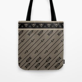 Arrows Flying (Gray Black) Tote Bag