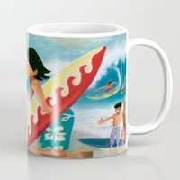 surfer Mugs featuring Surfer by colortown