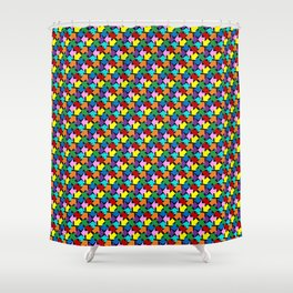 Anywhere You Want to Go - Black Shower Curtain