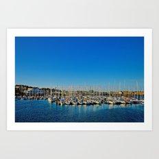 The Boats of Howth Harbor Art Print