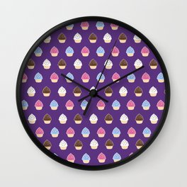 Cupcake Party Wall Clock