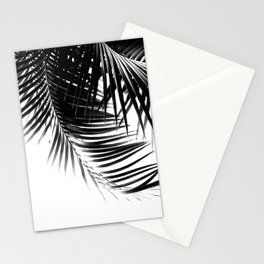 Palm Leaves Black & White Vibes #1 #tropical #decor #art #society6 Stationery Cards
