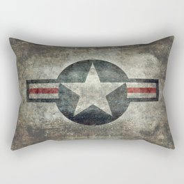 Vintage USAF Roundel Rectangular Pillow