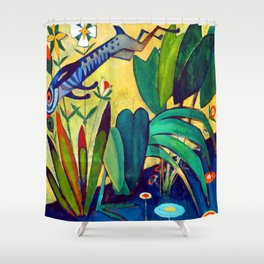Amadeo de Souza Cardoso The Leap of the Rabbit Shower Curtain