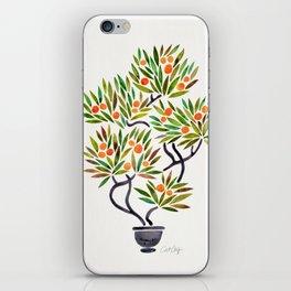 Bonsai Tree – Orange Fruit iPhone Skin