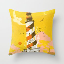 LIGHTHOUSE SHIP Throw Pillow