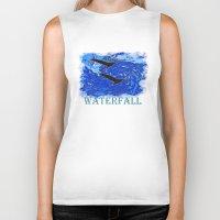 waterfall Biker Tanks featuring Waterfall by Avigur