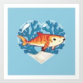 CHOMP the Tiger Shark Art Print
