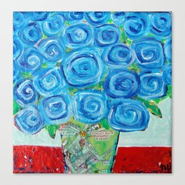 I'm Feeling Blue Canvas Print