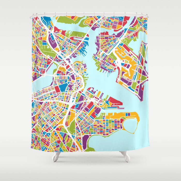 Boston Machusetts Street Map Shower Curtain by artpause on new england map, mass map, philly map, michigan map, fenway park map, texas map, charles town map, lexington map, america map, u.s. state map, united states map, ma map, phoenix map, mississippi map, massachusetts map, freedom trail map, pennsylvania map, ny map, usa map, cambridge map,