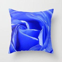 Blue Rose Throw Pillow