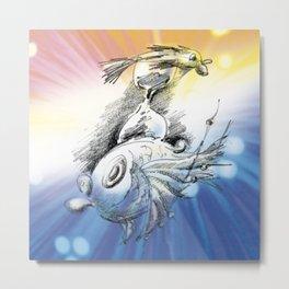 Time Fish Metal Print