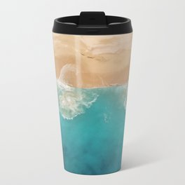 Ocean & Beach Aerial View Travel Mug
