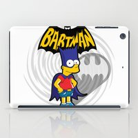 simpsons iPad Cases featuring Bartman: the simpsons superheroes by logoloco