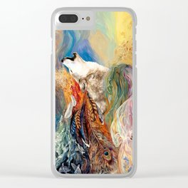 The spirit Wolf Abstract Clear iPhone Case